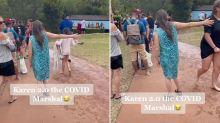 Woman dubbed 'Karen 2.0' for enforcing social distancing at theme park