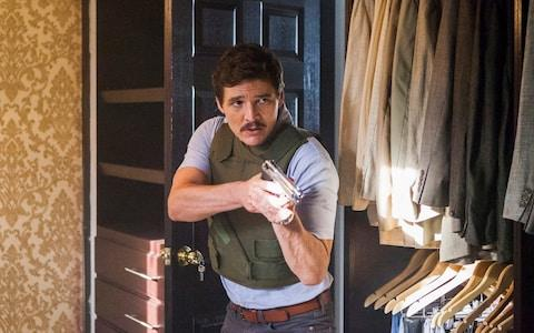 The programme stars Pedro Pascal as a police officer in pursuit of drug cartels - Credit:  Juan Pablo Gutierrez/NETFLIX