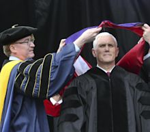 Mike Pence hit by student walk-out at Notre Dame graduation