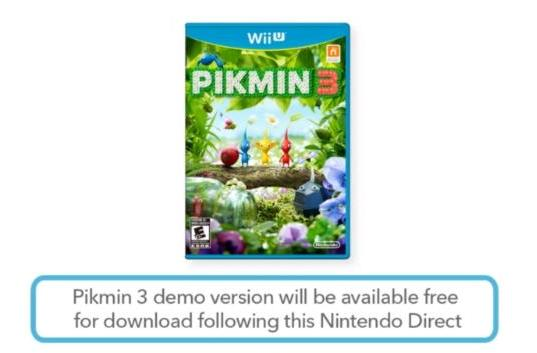 Pikmin 3 demo out now; Pikmin Short Movies on 3DS, Wii U