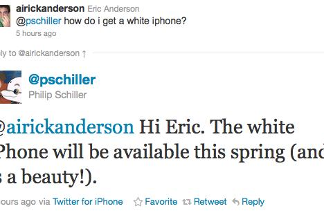 Apple's Phil Schiller confirms: white iPhone to be available 'this spring'