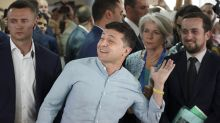 Ukraine president's party buoyed by exit poll after election