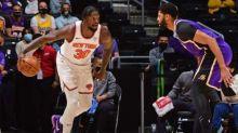 Last-gasp Lakers keep Knicks waiting for play-off berth