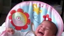 Bubbly Baby Laughs Out Loud for the First Time