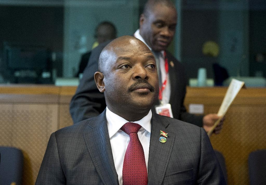 President Pierre Nkurunziza thanked loyalist forces for crushing a coup attempt (AFP Photo/Alain Jocard)