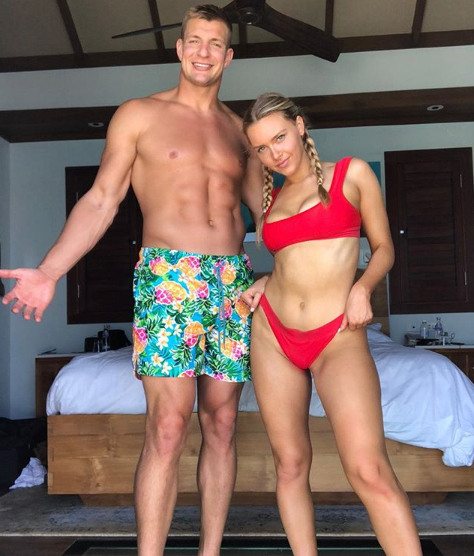 Camille Kostek Gronk Video: Gronk Excited That His Girlfriend Is Officially A Sports