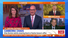 Chaos in Canberra as Senator lashes out