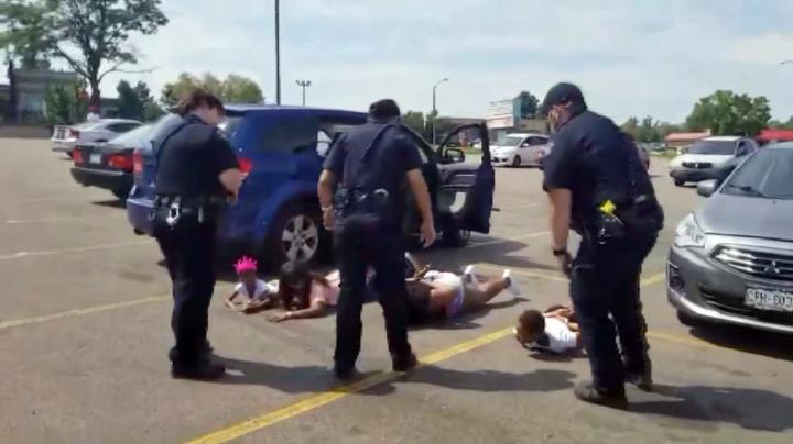 Video: Black girls cuffed in mistaken stolen-car stop