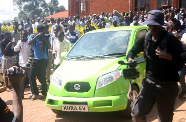 College students unveil the Kiira EV, Uganda's first electric car (video)