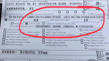 Police shame driver for going nearly 4 times over speed limit in school zone: 'It's truly dangerous'