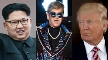 Kim Jong Un said he's never heard Elton John's 'Rocket Man,' so Trump reportedly sent him an autographed CD