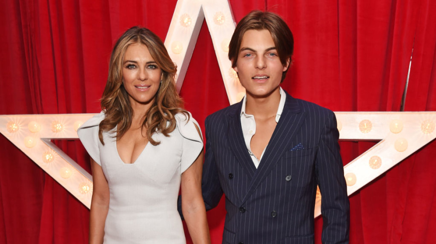 Liz Hurley shares lookalike son's beauty campaign