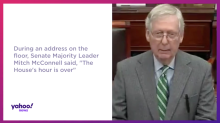 McConnell says 'the House's hour is over'