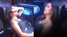Neha Kakkar sleeping on Indian Idol stage, Video Viral