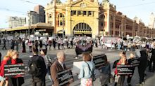 Commuter chaos as vegan activists block major roads in Melbourne