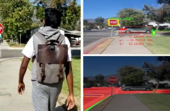 Researchers developed an AI backpack system to guide vision-impaired wearers