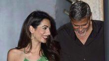 Amal Clooney espectacular en salida con George Clooney