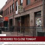 Business ordered to close tonight