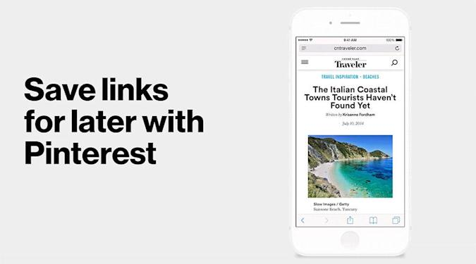 Pinterest's new button makes pinning easier on iPhones