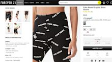 Forever 21 faces backlash over 'Fake News' biker shorts: 'This is not funny, cute or fashionable'