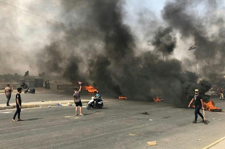 The protests follow months of simmering frustration over rampant power cuts, water shortages and state corruption (AFP Photo/Salam FARAJ)