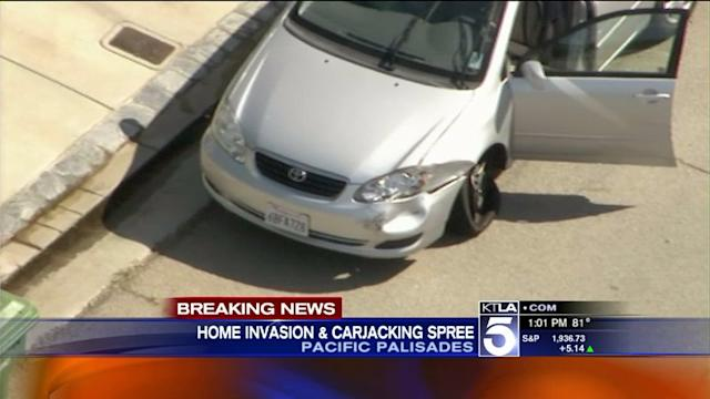 Suspect in Custody After Carjacking, Series of Crashes in Pacific Palisades, Malibu