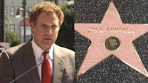 Will Ferrell recibe en familia su estrella de Hollywood