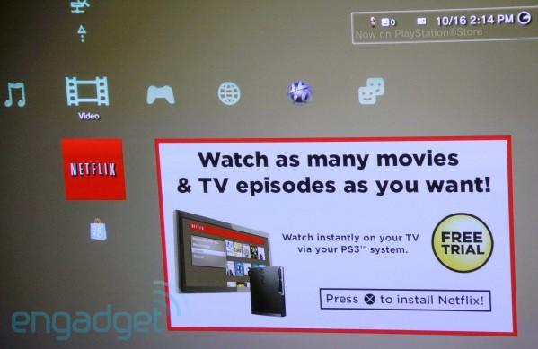Netflix on PS3 ready to download on some consoles, service starts Oct. 18th