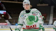 Red Wings prospect Moritz Seider scores first goal for Swedish team