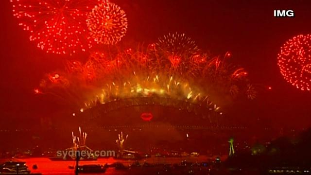 Australians celebrate New Year with fireworks