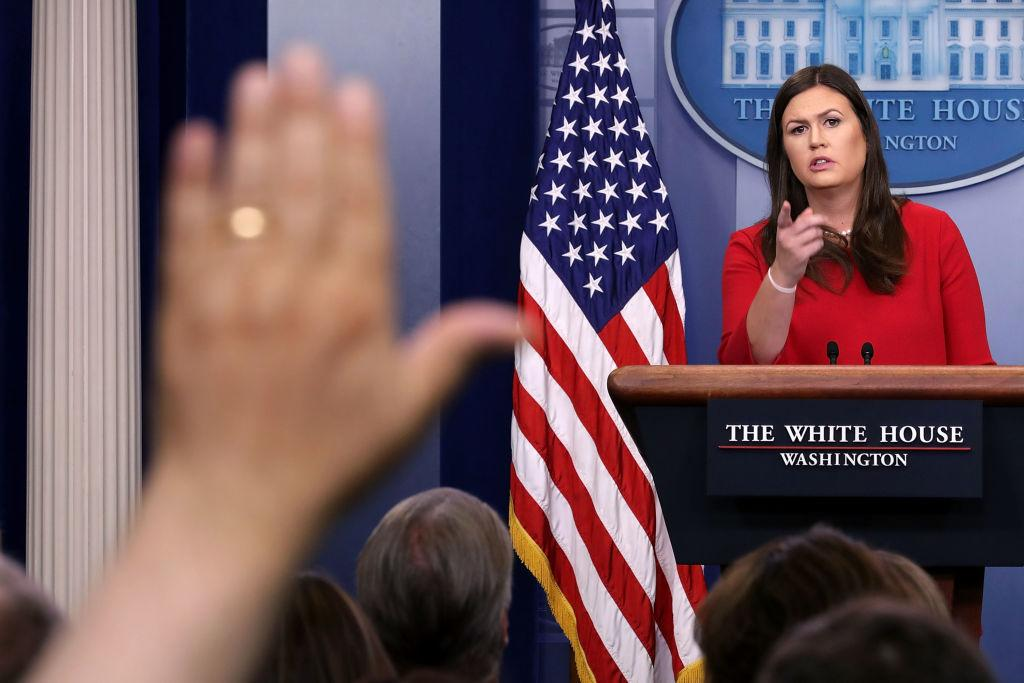 West Wing Cast Hits Out At Sarah Huckabee Sanders: 'You're no C.J. Cregg'