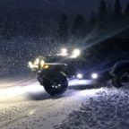 Man Takes Jeep For a 'Spin' on Slippery Road in California