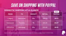 PayPal Canada launches new solution to help small businesses save 75% in shipping costs