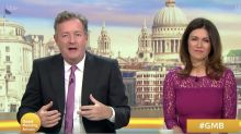 Piers Morgan says Susanna Reid was angry with him over quitting 'Good Morning Britain'