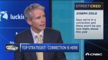 Top strategist says correction here and investors should brace for more volatility