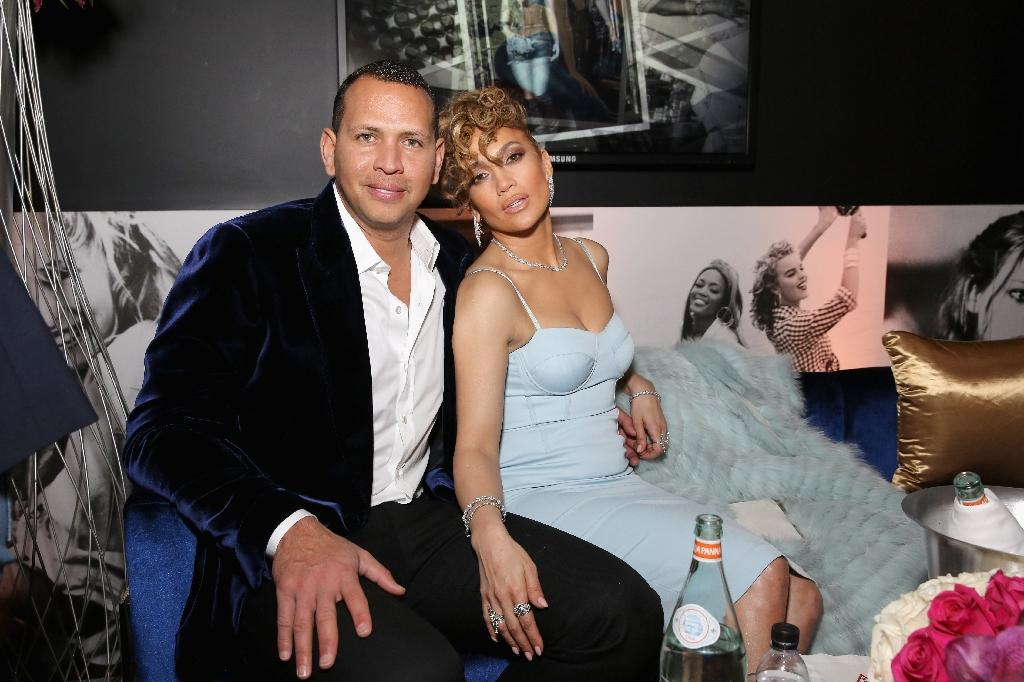 Alex Rodriguez and Jennifer Lopez, seen here in Los Angeles January 2018, have helped launch a project to teach poor kids from the Bronx the ins and outs of the real estate business (AFP Photo/Rachel Murray)