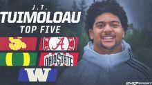 J.T. Tuimoloau's decision, nation's No. 1 recruit in 2021 class, could come down to Oregon vs. Alabama