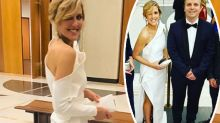 Nine reporter's awkward wardrobe fail at glitzy ball