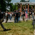 Gettysburg 'flag-burning hoax' sees armed far-right groups assemble