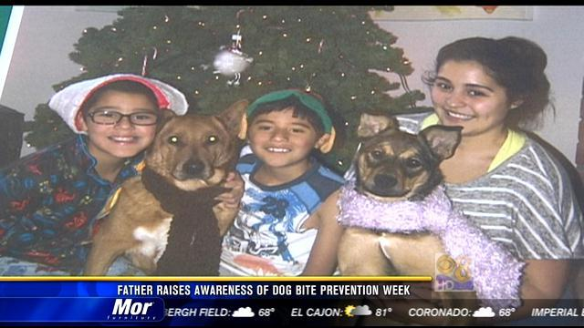 Father raises awareness of Dog Bite Prevention Week
