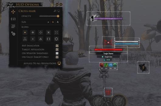 Darkfall creates a new customizable user interface