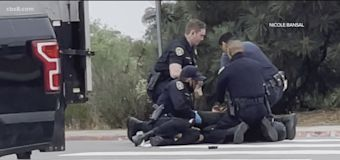 Video shows San Diego cops punching man