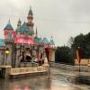 It rained so hard at Disneyland yesterday, the park looks like it's completely abandoned