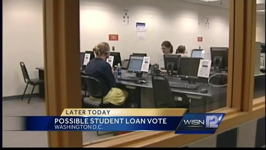 Vote on student loan rates expected today