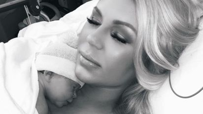 Gretchen Rossi Shows the First Time She Held Her Baby Girl After Surgery