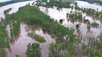 Drone Footage Shows Worst Red River Flooding in Decades