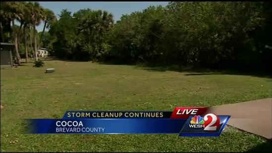 Residents in Cocoa cleanup after storms