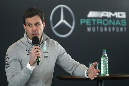Mercedes' Executive Director Toto Wolff during the launch