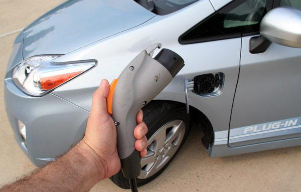 Plug-in Prius pulling into American driveways in February or March of 2012