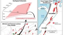 Max Resource Reports 2.2% Copper and 12g/t Silver Over 15-metre Open-Ended, Composite Grab at the CESAR Project, Colombia